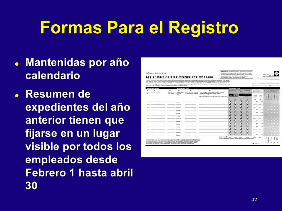Formas Para el Registro