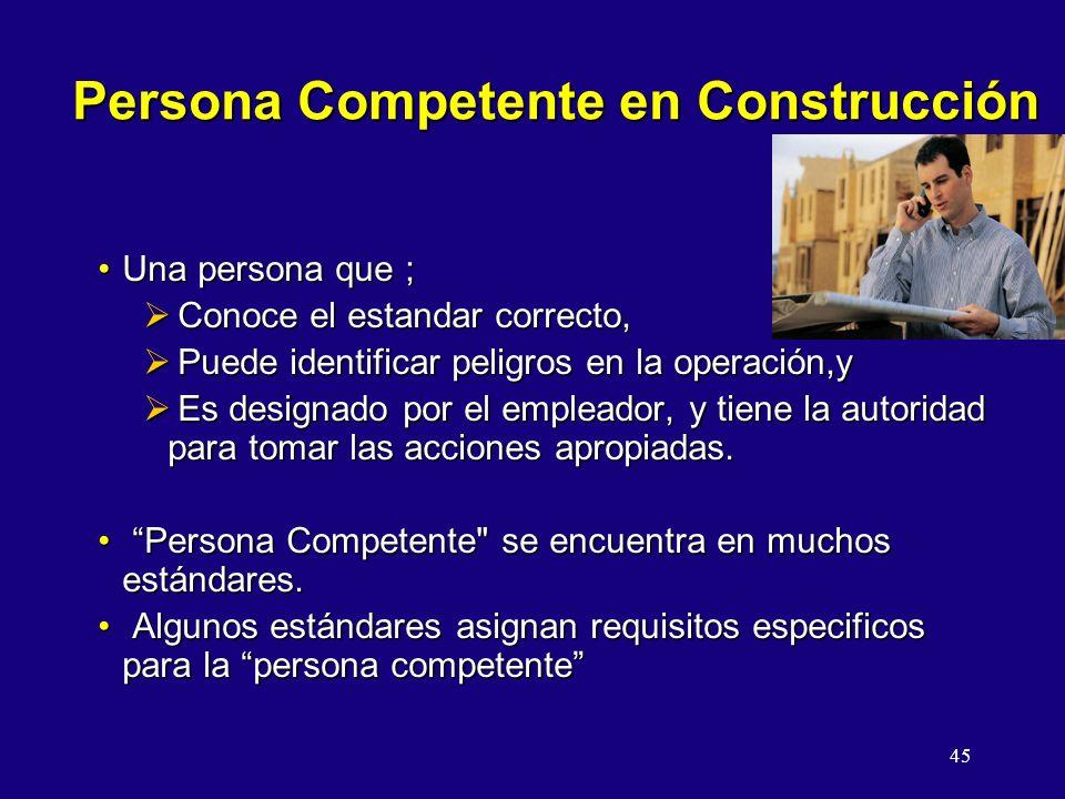 Persona Competente en Construcción