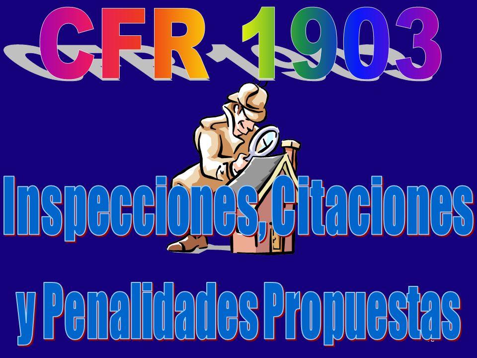 Inspecciones, Citaciones y Penalidades Propuestas