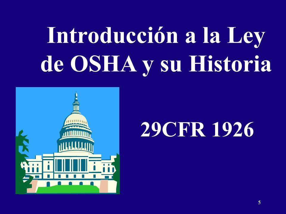 Introducción a la Ley de OSHA y su Historia