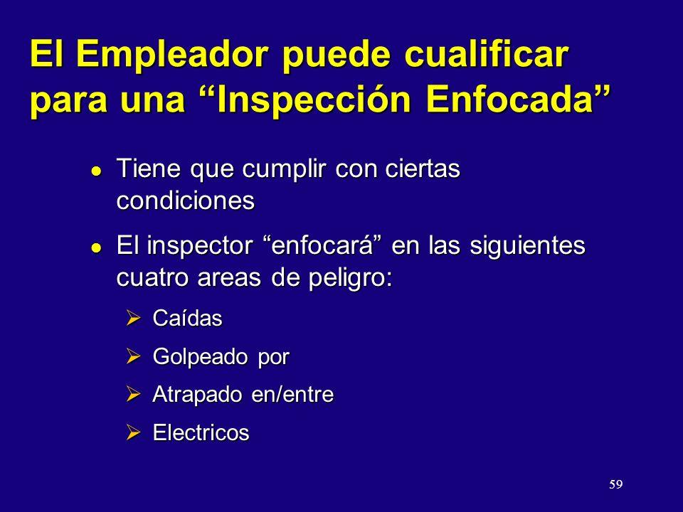 El Empleador puede cualificar para una Inspección Enfocada