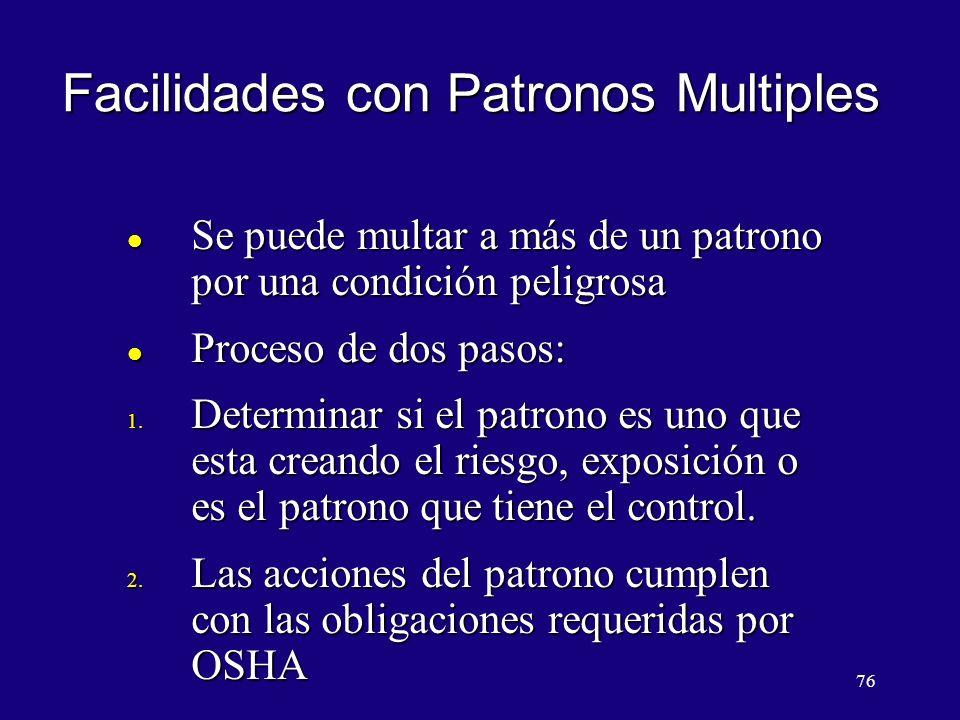 Facilidades con Patronos Multiples