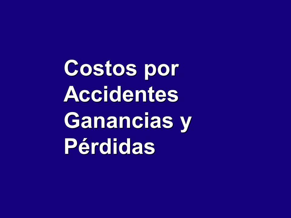 Costos por Accidentes Ganancias y Pérdidas
