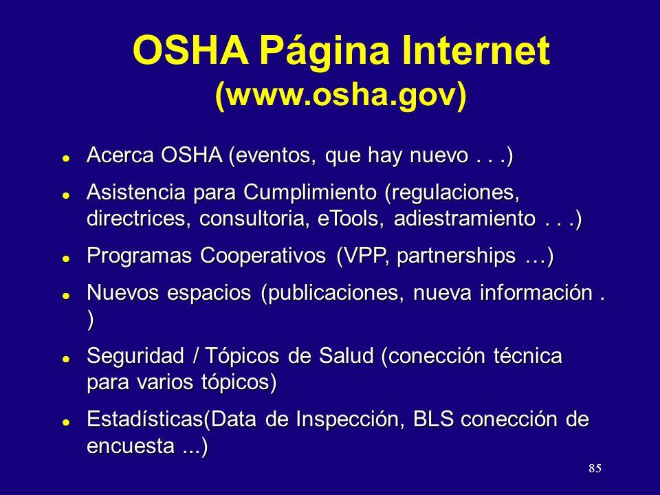 OSHA Página Internet (www.osha.gov)