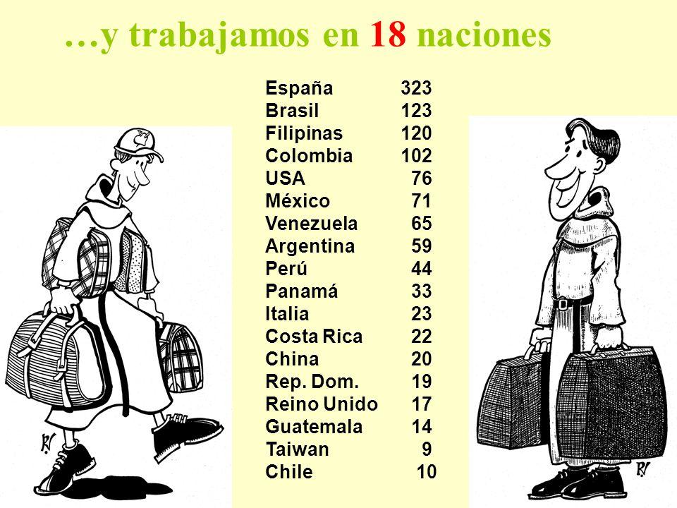 …y trabajamos en 18 naciones