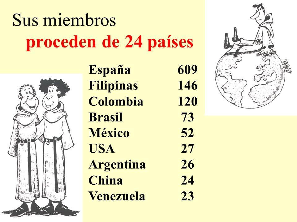 Sus miembros proceden de 24 países