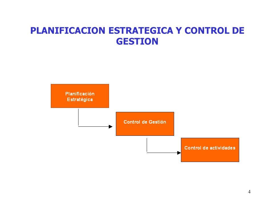 PLANIFICACION ESTRATEGICA Y CONTROL DE GESTION