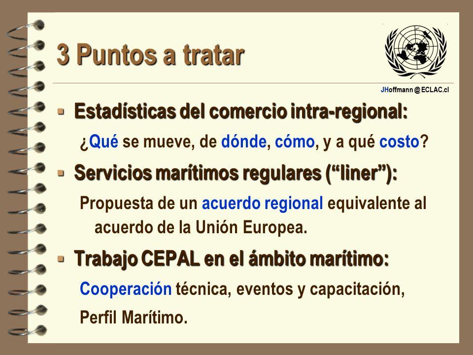 3 Puntos a tratar Estadísticas del comercio intra-regional: