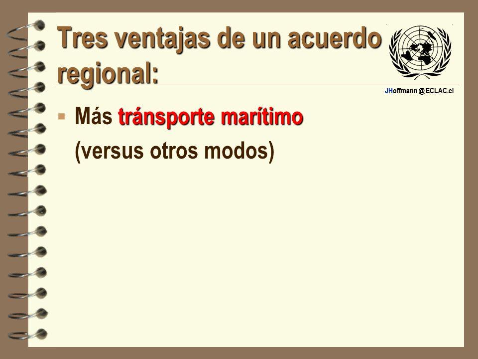 Tres ventajas de un acuerdo regional: