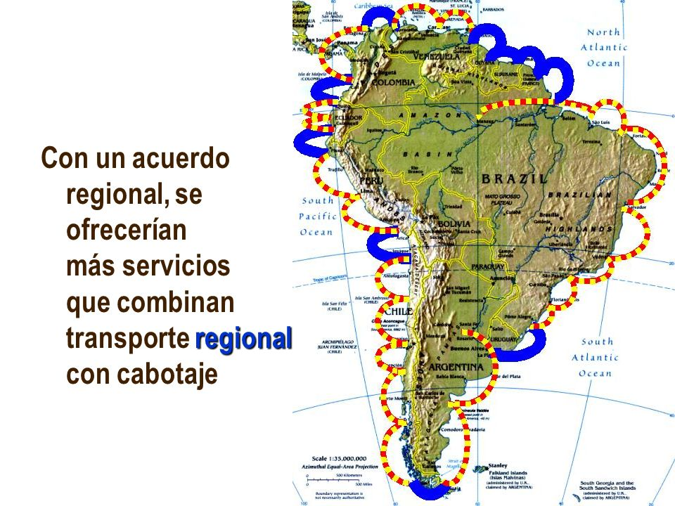 Con un acuerdo regional, se ofrecerían más servicios que combinan transporte regional con cabotaje