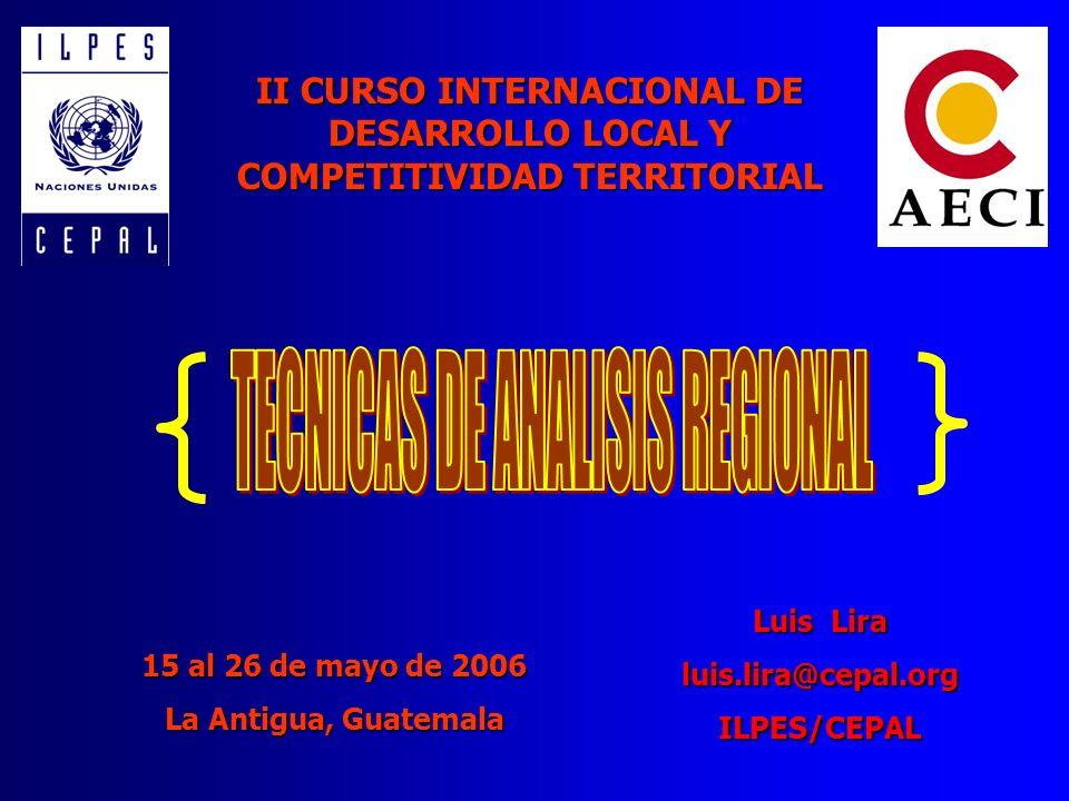TECNICAS DE ANALISIS REGIONAL