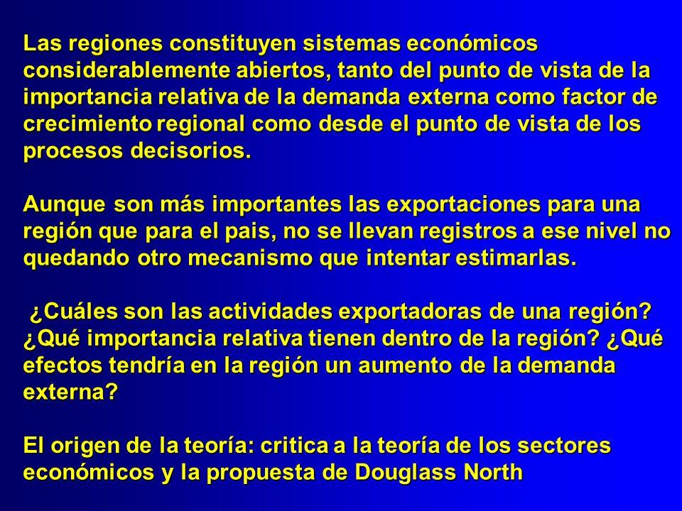 Las regiones constituyen sistemas económicos