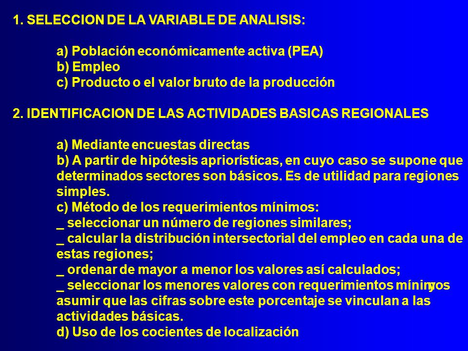 1. SELECCION DE LA VARIABLE DE ANALISIS: