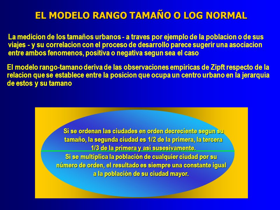 EL MODELO RANGO TAMAÑO O LOG NORMAL