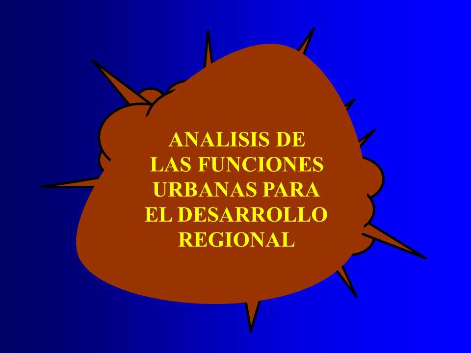 ANALISIS DE LAS FUNCIONES URBANAS PARA EL DESARROLLO REGIONAL