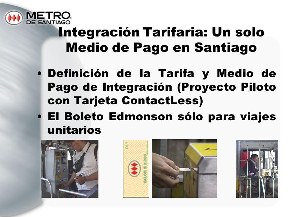 Integración Tarifaria: Un solo Medio de Pago en Santiago