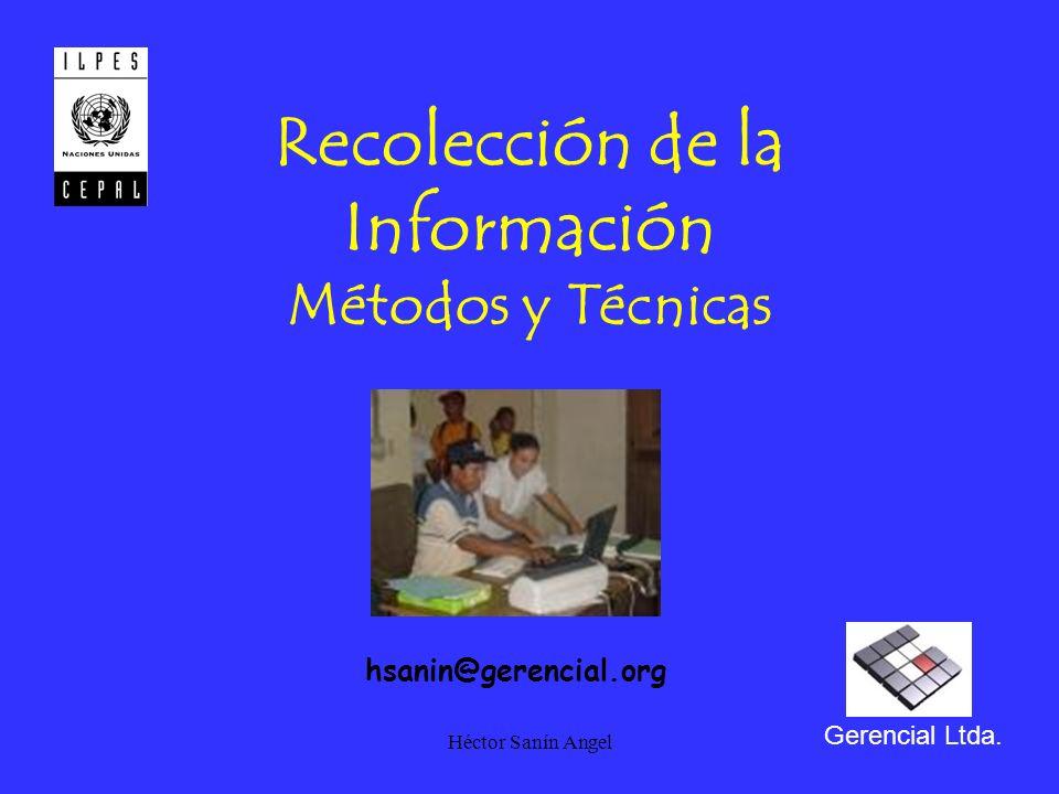 Recolección de la Información Métodos y Técnicas