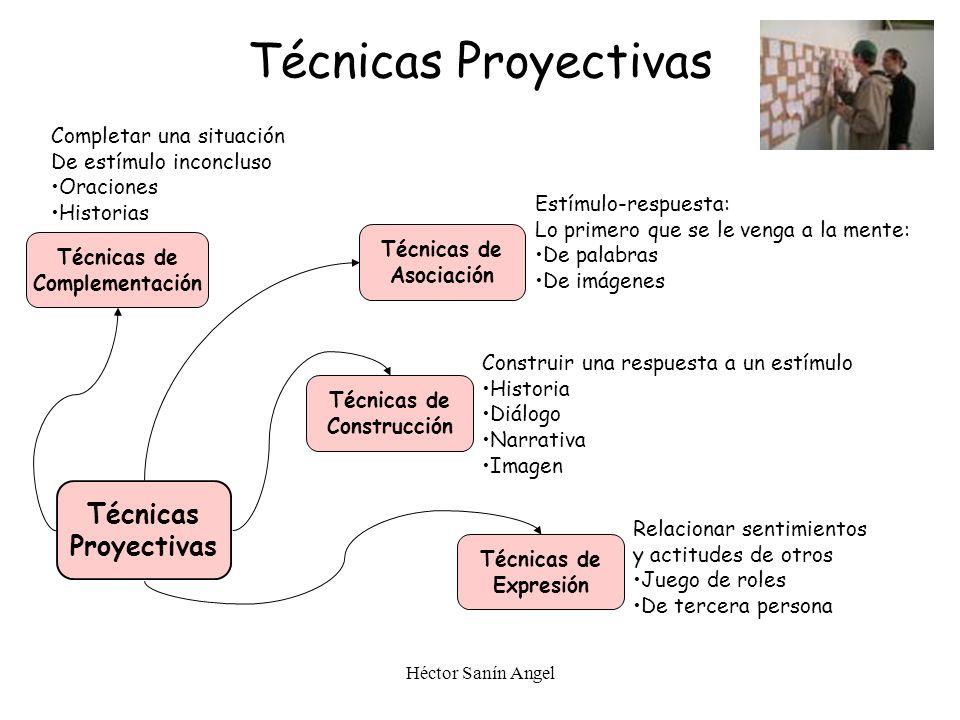 Técnicas Proyectivas Técnicas Proyectivas Completar una situación