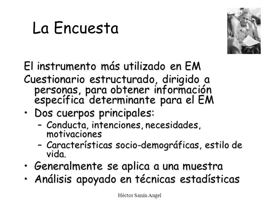 La Encuesta El instrumento más utilizado en EM