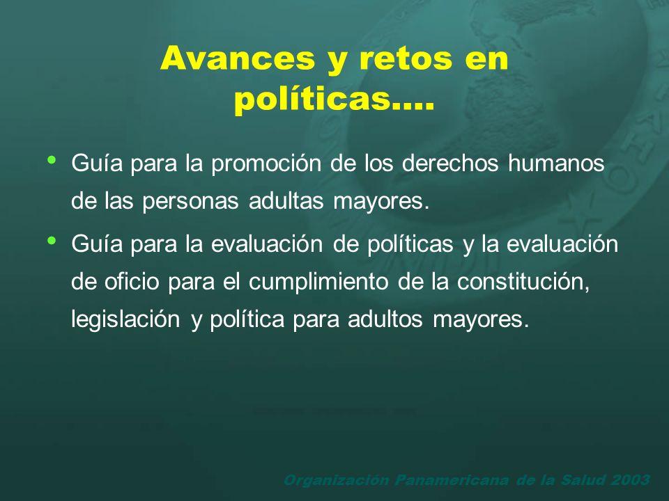 Avances y retos en políticas….