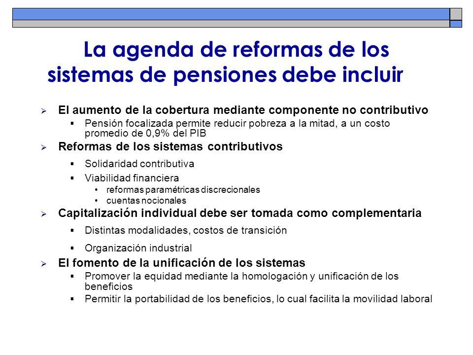 La agenda de reformas de los sistemas de pensiones debe incluir