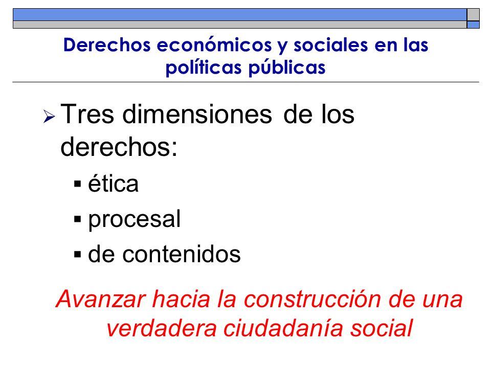 Derechos económicos y sociales en las políticas públicas