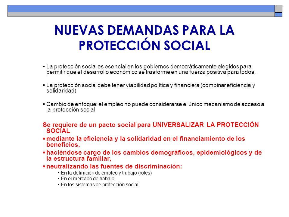 NUEVAS DEMANDAS PARA LA PROTECCIÓN SOCIAL