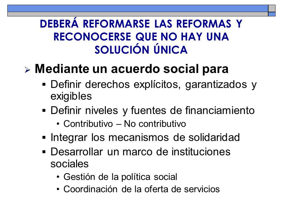Mediante un acuerdo social para