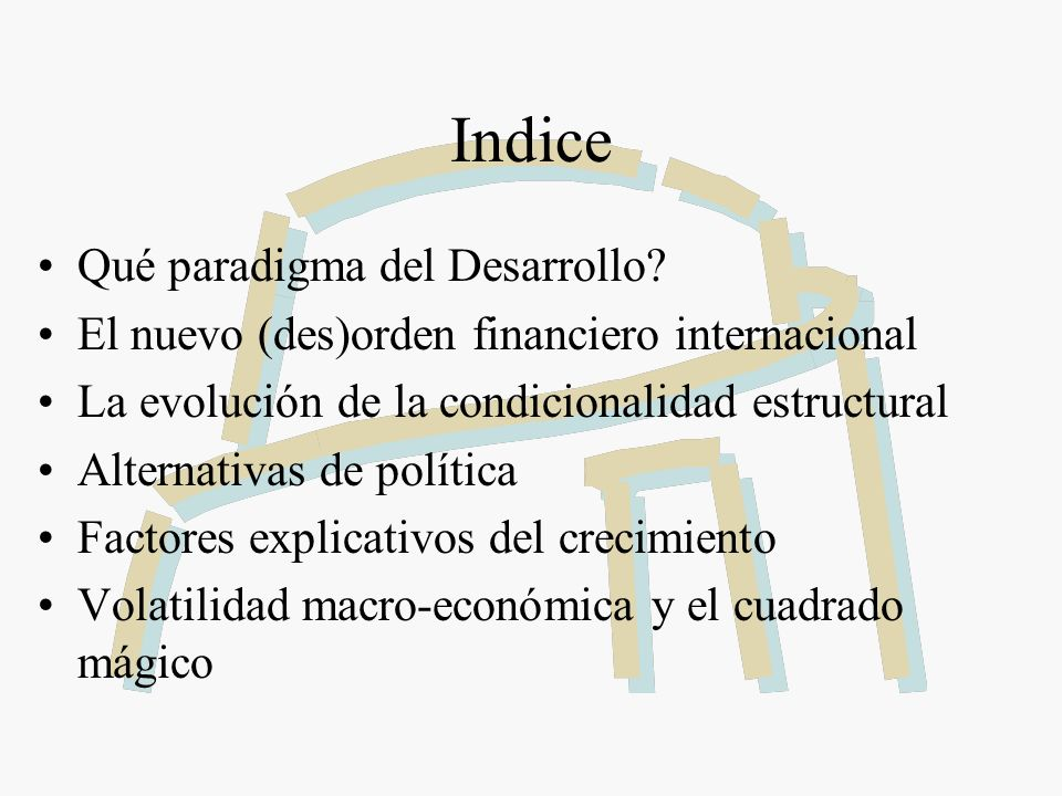 Indice Qué paradigma del Desarrollo