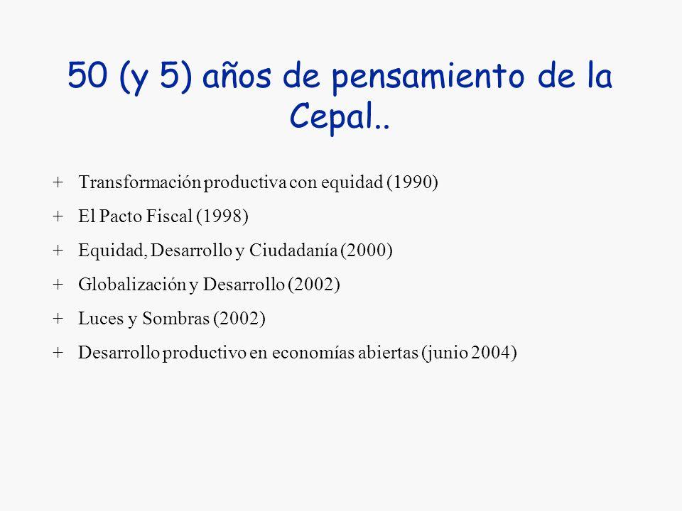 50 (y 5) años de pensamiento de la Cepal..