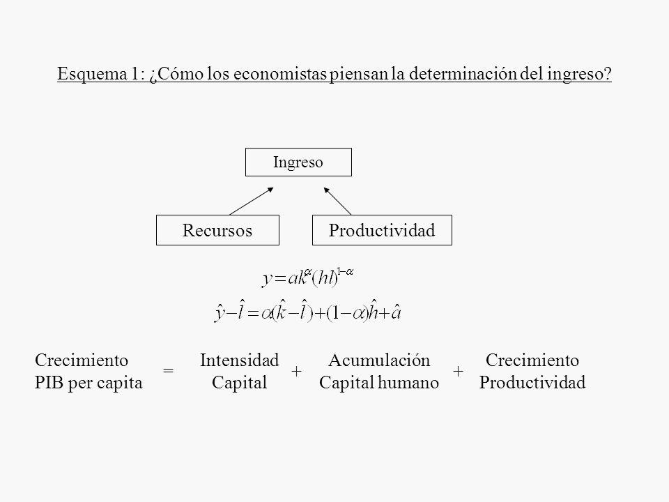 Esquema 1: ¿Cómo los economistas piensan la determinación del ingreso