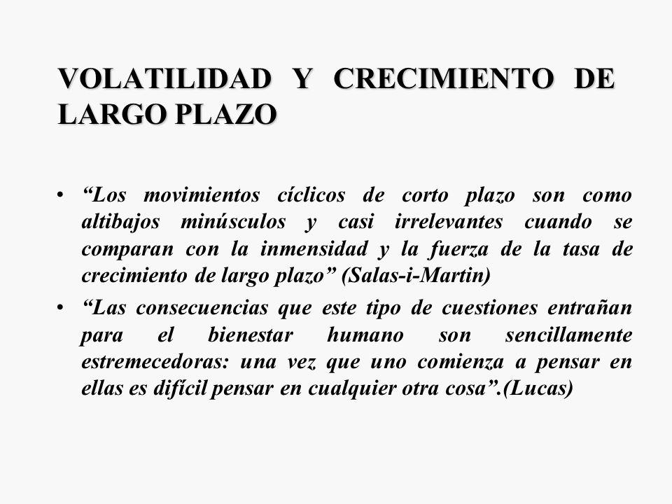 VOLATILIDAD Y CRECIMIENTO DE LARGO PLAZO