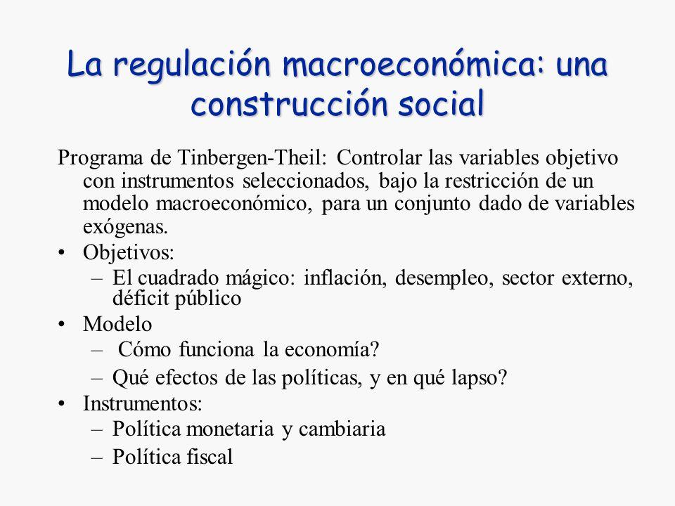 La regulación macroeconómica: una construcción social