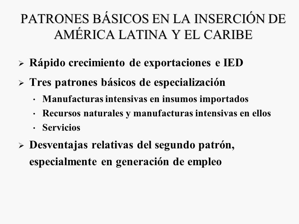PATRONES BÁSICOS EN LA INSERCIÓN DE AMÉRICA LATINA Y EL CARIBE