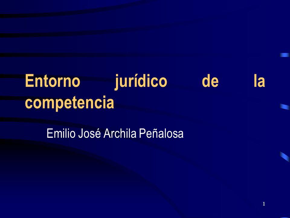 Entorno jurídico de la competencia