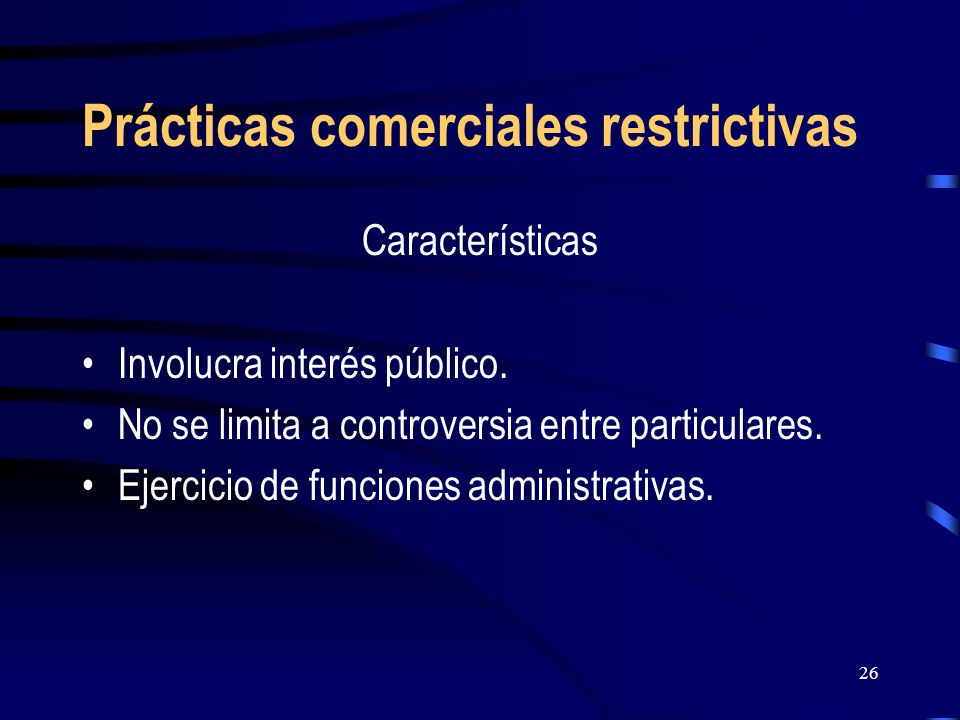 Prácticas comerciales restrictivas