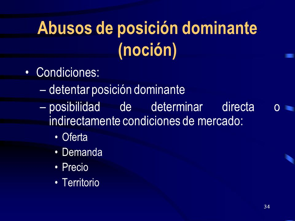 Abusos de posición dominante (noción)