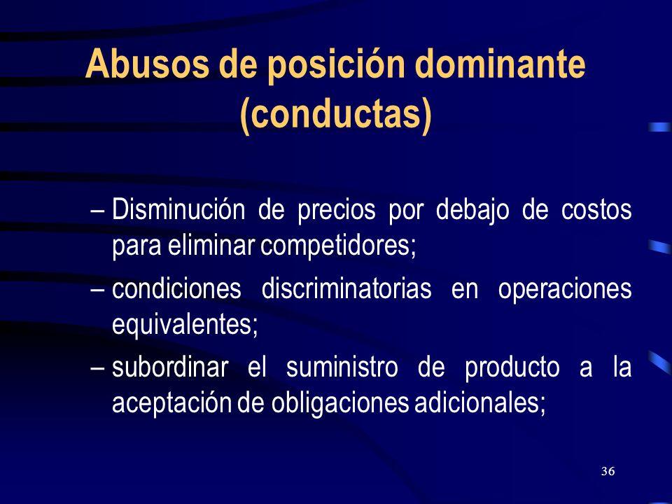 Abusos de posición dominante (conductas)