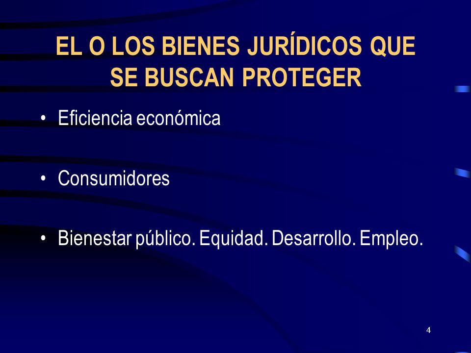EL O LOS BIENES JURÍDICOS QUE SE BUSCAN PROTEGER
