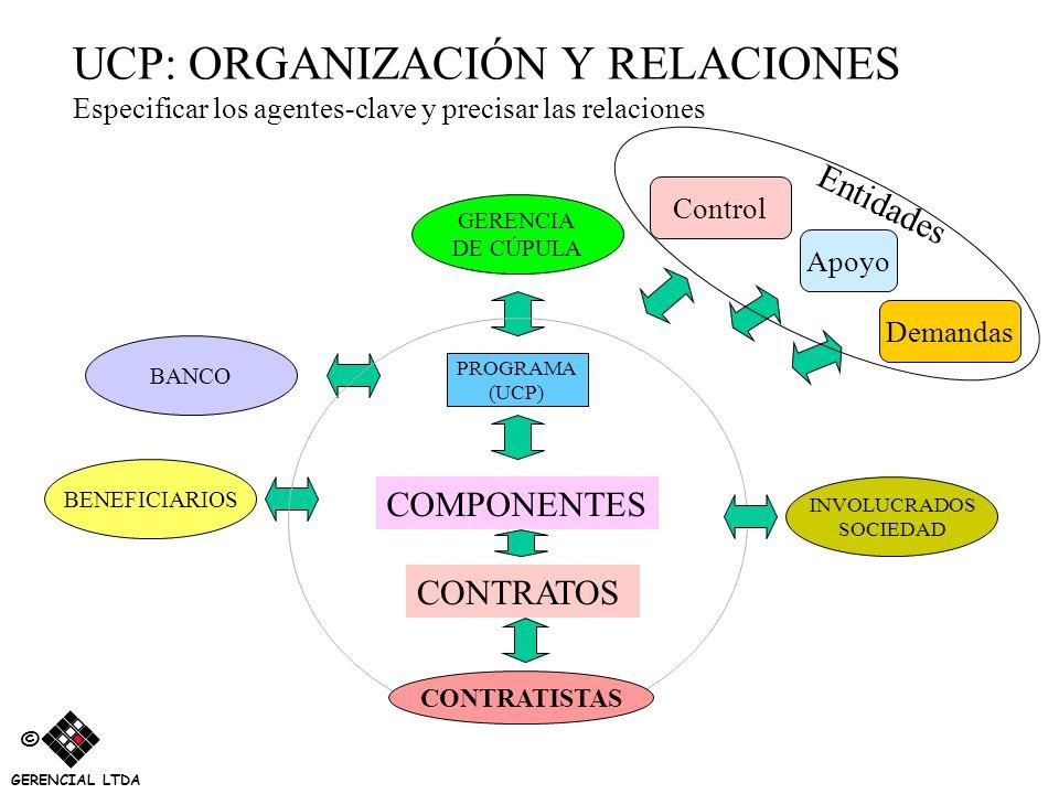 UCP: ORGANIZACIÓN Y RELACIONES Especificar los agentes-clave y precisar las relaciones