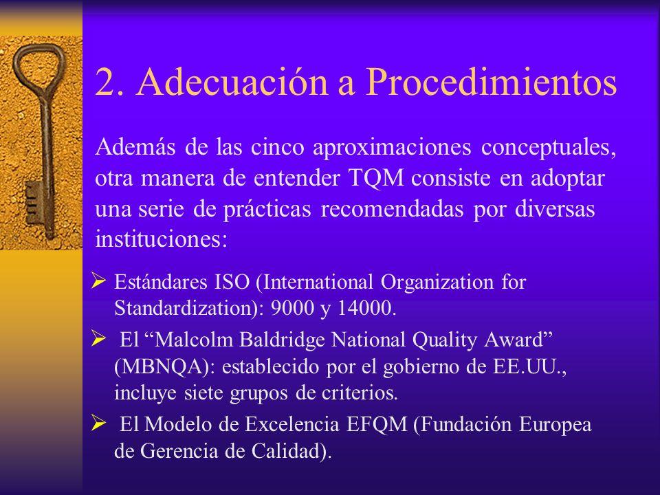 2. Adecuación a Procedimientos