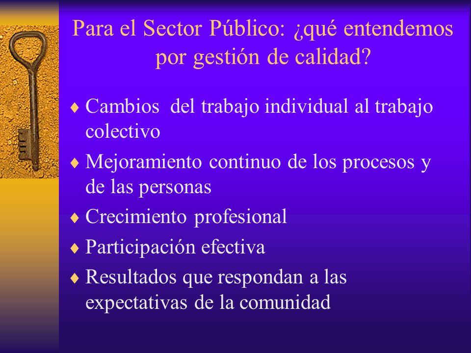 Para el Sector Público: ¿qué entendemos por gestión de calidad