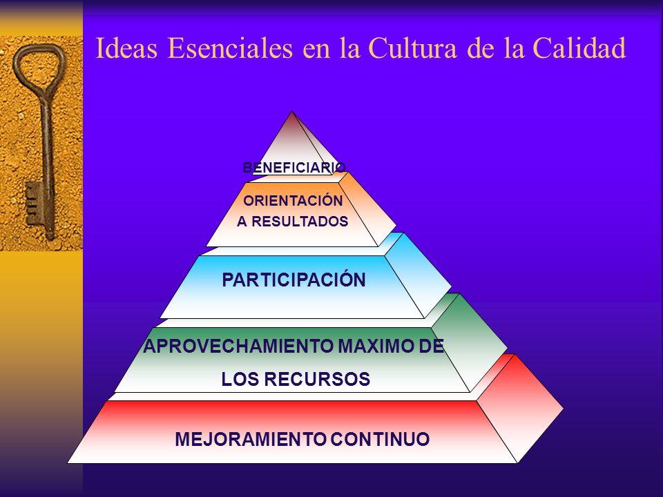 Ideas Esenciales en la Cultura de la Calidad