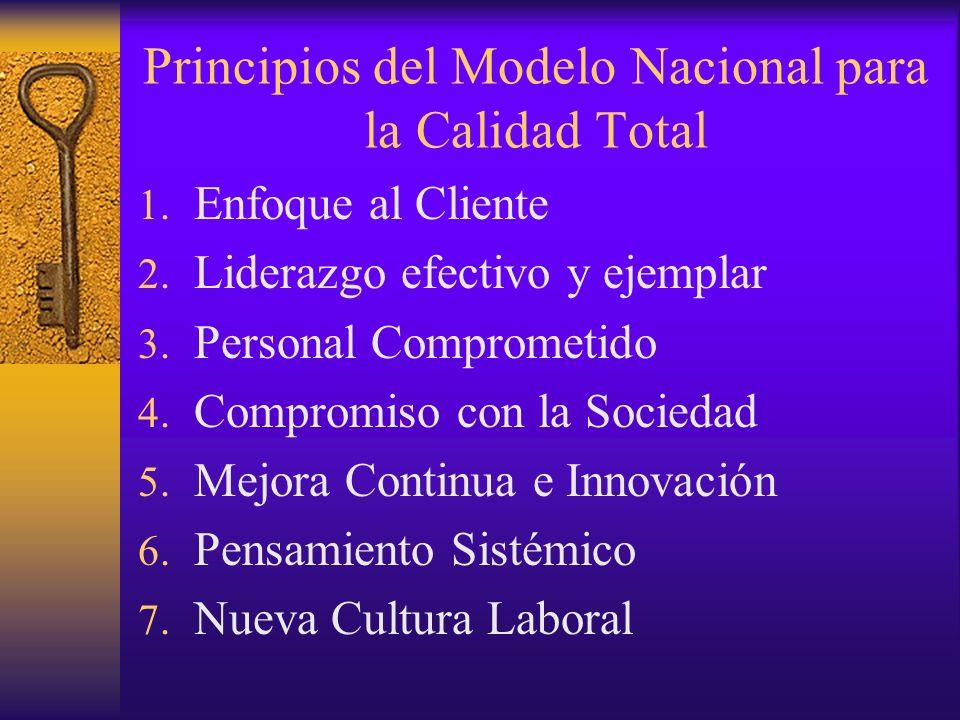 Principios del Modelo Nacional para la Calidad Total