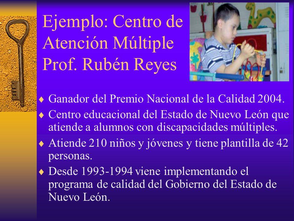 Ejemplo: Centro de Atención Múltiple Prof. Rubén Reyes