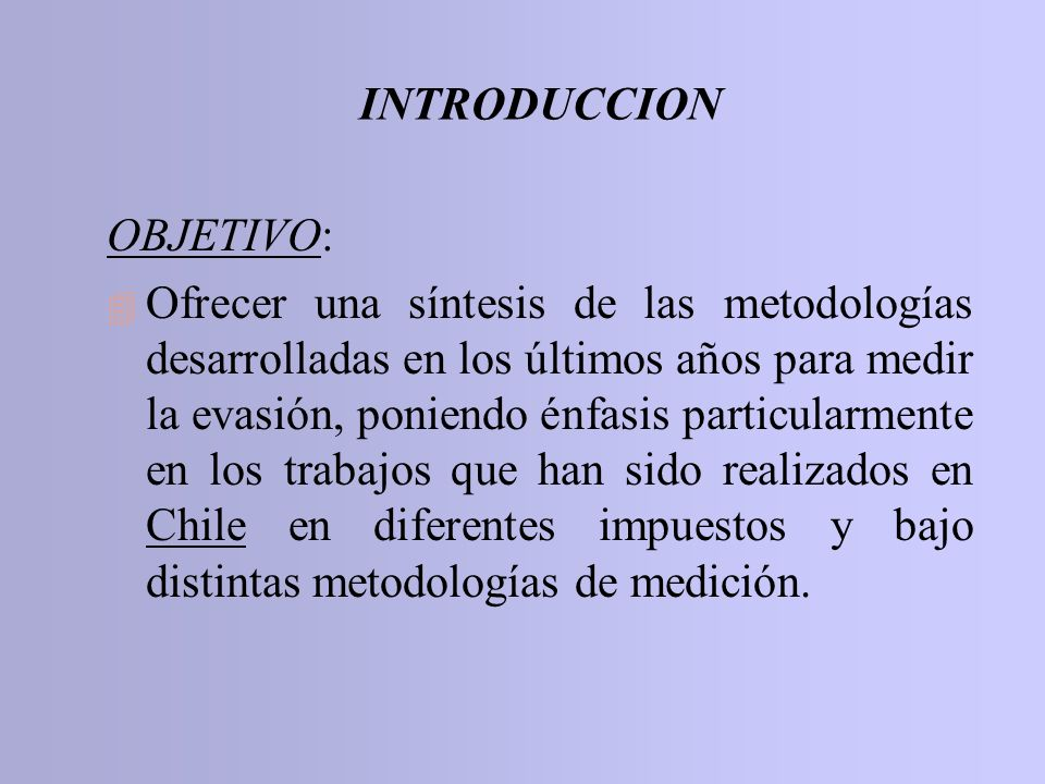 INTRODUCCION OBJETIVO: