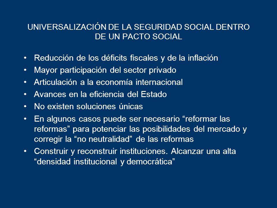 UNIVERSALIZACIÓN DE LA SEGURIDAD SOCIAL DENTRO DE UN PACTO SOCIAL