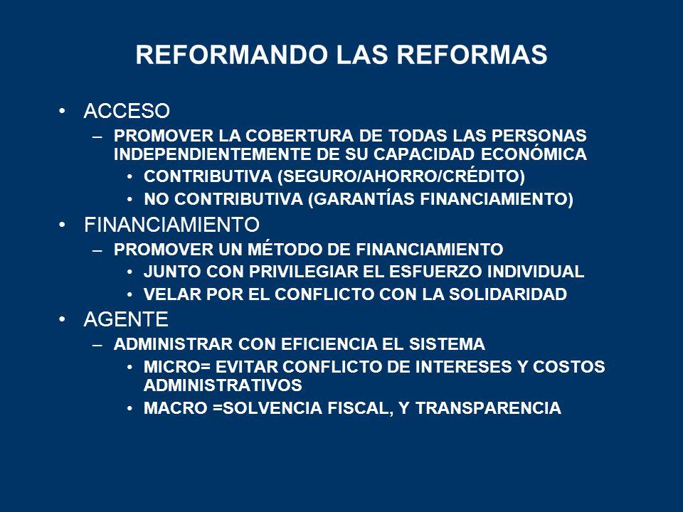 REFORMANDO LAS REFORMAS