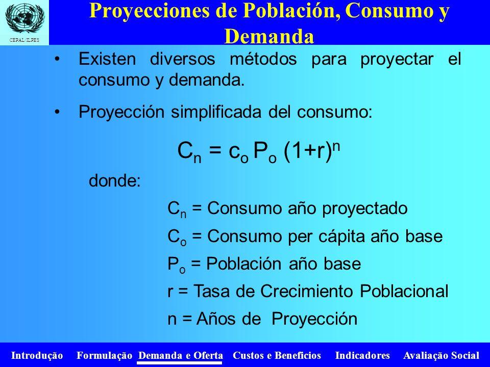 Proyecciones de Población, Consumo y Demanda