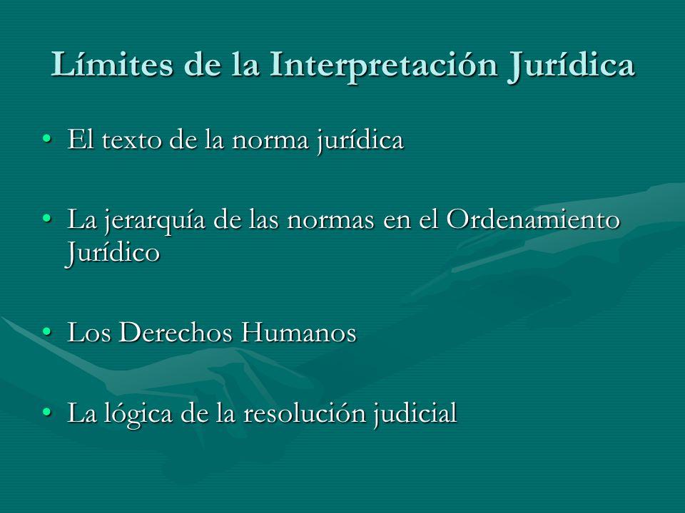 Límites de la Interpretación Jurídica